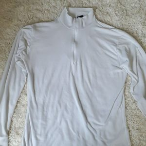 Lands End white pullover